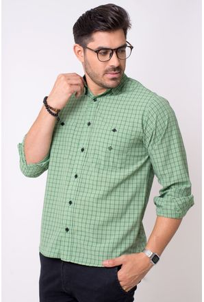 Camisa-casual-masculina-tradicional-microfibra-verde-f01791a-1