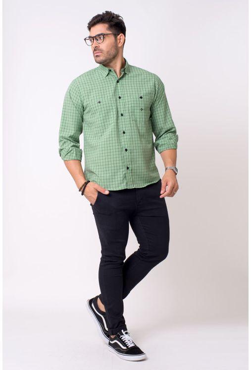 Camisa-casual-masculina-tradicional-microfibra-verde-f01791a-4