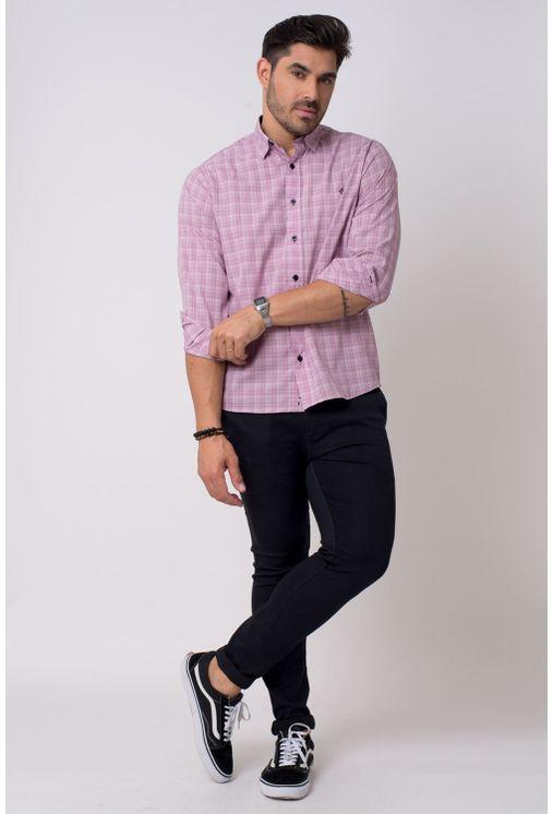 Camisa-casual-masculina-tradicional-microfibra-rosa-f01792a-4