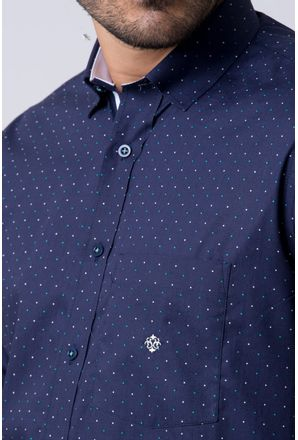 Camisa-casual-masculina-tradicional-algodao-fio-60-azul-escuro-f02157a-3