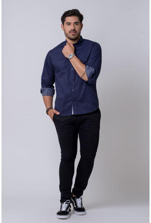 Camisa-casual-masculina-tradicional-algodao-fio-60-azul-escuro-f02157a-1