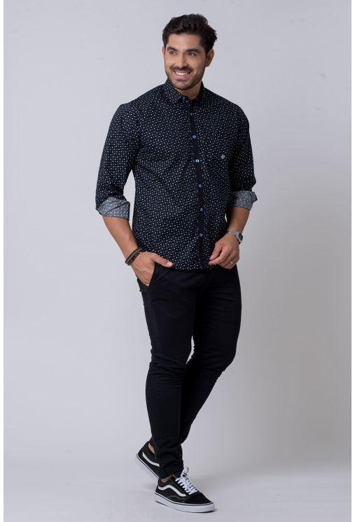 Camisa-casual-masculina-tradicional-algodao-fio-60-azul-f02165a-4