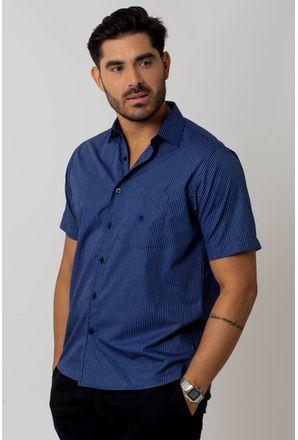 Camisa-casual-masculina-tradicional-algodao-fio-50-azul-f01267a-1