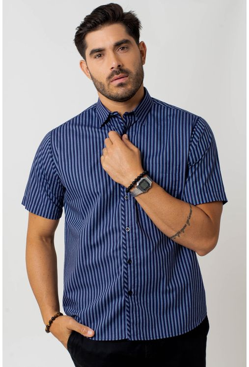 Camisa-casual-masculina-tradicional-algodao-fio-50-azul-f01269a-1