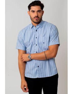 7c365d875b Camisaria Fascynios Oficial · KITS · Ponta de Estoque 1. Camisa casual  masculina tradicional algodão fio 50 azul médio f01269a 01 ...