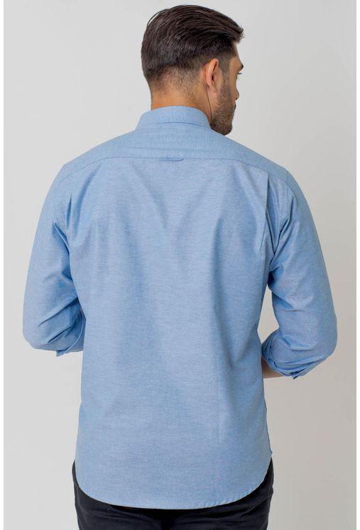 Camisa-casual-masculina-tradicional-algodao-fio-40-azul-medio-f02090a-2