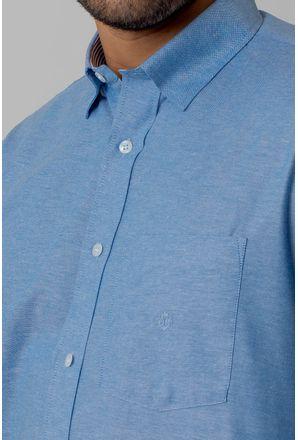 Camisa-casual-masculina-tradicional-algodao-fio-40-azul-medio-f02090a-3