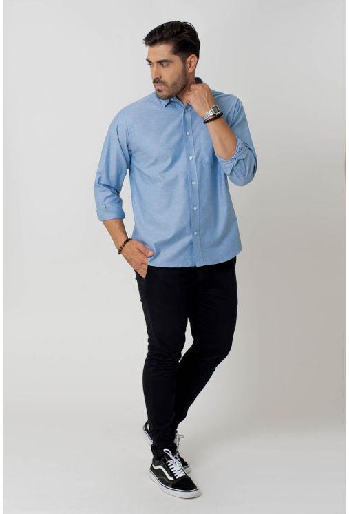 Camisa-casual-masculina-tradicional-algodao-fio-40-azul-medio-f02090a-4