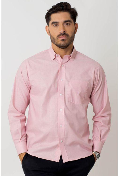 Camisa-casual-masculina-tradicional-algodao-fio-40-rosa-f02090a-1
