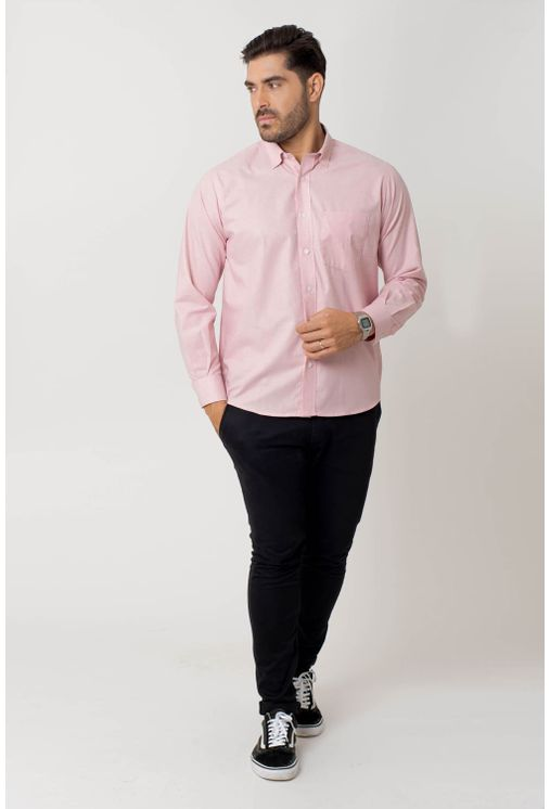 Camisa-casual-masculina-tradicional-algodao-fio-40-rosa-f02090a-4