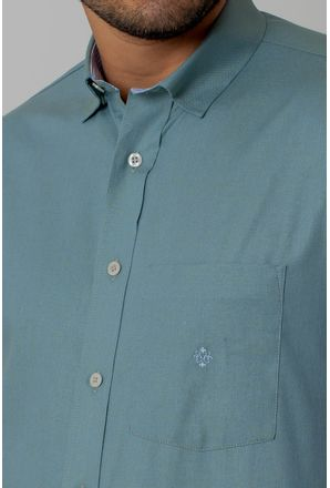 Camisa-casual-masculina-tradicional-algodao-fio-40-verde-f02090a-3
