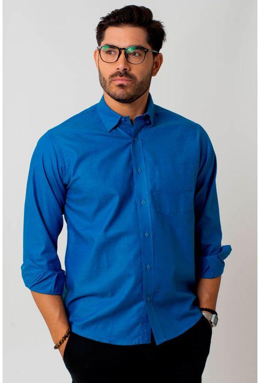 Camisa-casual-masculina-tradicional-algodao-fio-40-azul-f02090a-1
