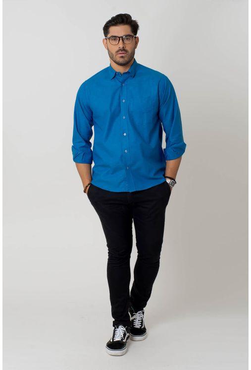 Camisa-casual-masculina-tradicional-algodao-fio-40-azul-f02090a-4