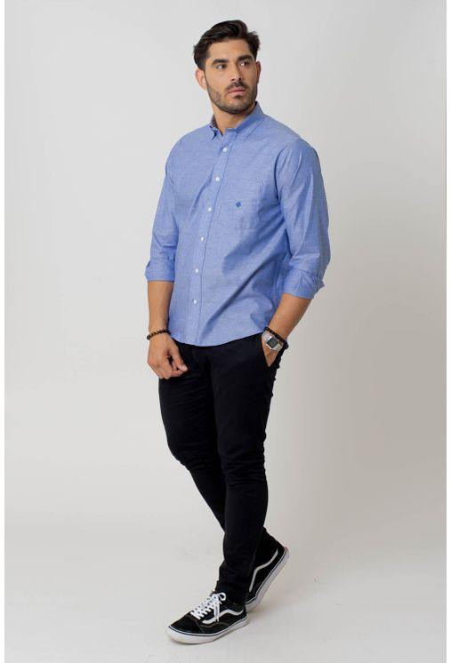 Camisa-casual-masculina-tradicional-algodao-fio-40-azul-claro-f02090a-4