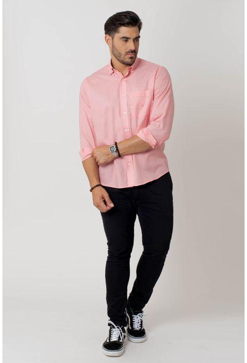 Camisa-casual-masculina-tradicional-algodao-fio-40-rosa-f02099a-4