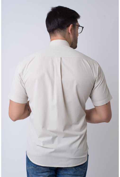 Camisa-casual-masculina-tradicional-algodao-fio-50-bege-f07386a-2