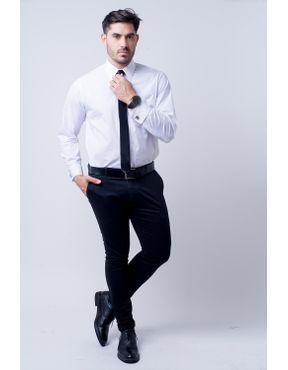 4abfdebbc2 ... Camisa social masculina tradicional algodão fio 60 branco f06798a 01