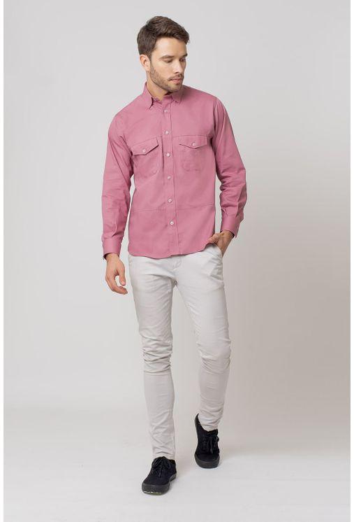 Camisa-casual-masculina-tradicional-sarjada-salmao-f01695a-4