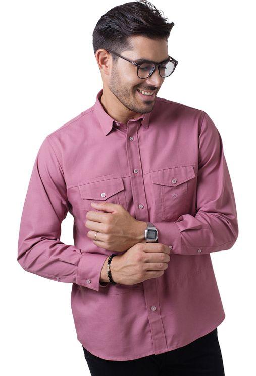 Camisa-casual-masculina-tradicional-sarjada-salmao-f01695a-5