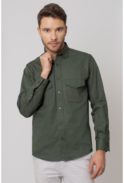 Camisa-casual-masculina-tradicional-sarjada-verde-f01695a-1
