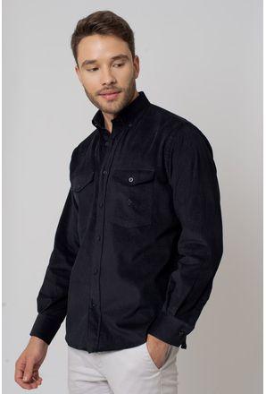 Camisa-casual-masculina-tradicional-veludo-preto-f02033a-1