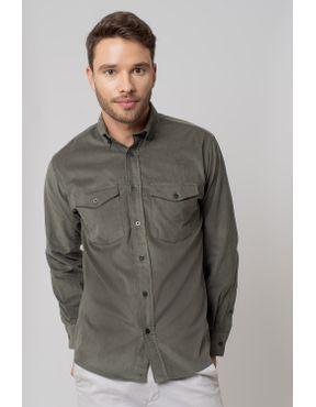 5f0ae946cf Camisa casual masculina tradicional veludo verde f02033a - Camisaria ...