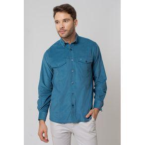 Camisa-casual-masculina-tradicional-veludo-azul-f02031a-1