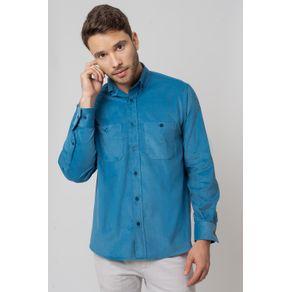 Camisa-casual-masculina-tradicional-veludo-azul-f02032a-1
