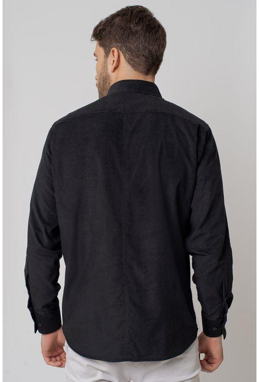 Camisa-casual-masculina-tradicional-veludo-preto-f02031a-2