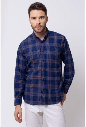 Camisa-casual-masculina-tradicional-flanela-azul-escuro-f08187a-1
