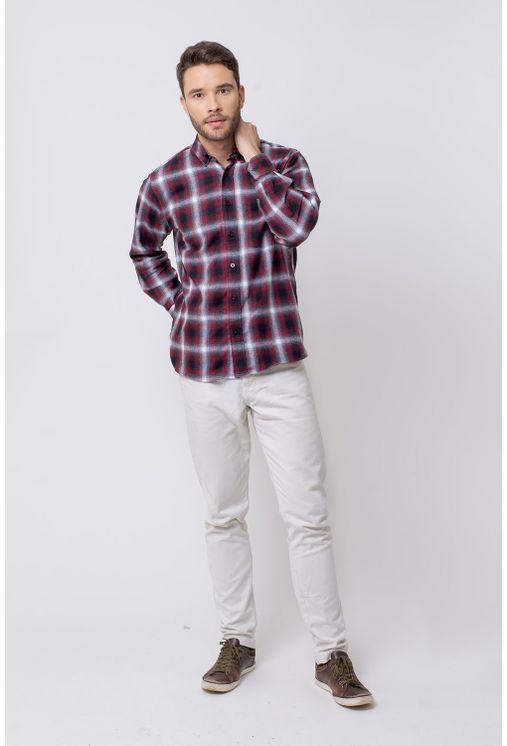 Camisa-casual-masculina-tradicional-flanela-vermelho-f08189a-4