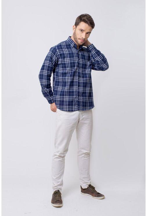 Camisa-casual-masculina-tradicional-flanela-azul-escuro-f08192a-4