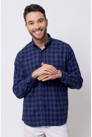 Camisa-casual-masculina-tradicional-flanela-azul-escuro-f08194a-1