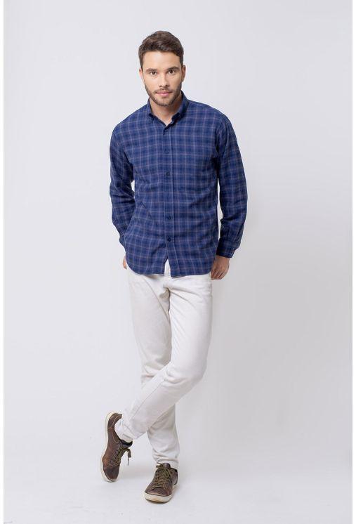 Camisa-casual-masculina-tradicional-flanela-azul-escuro-f08194a-4