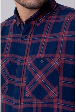 Camisa-Casual-Masculina-Tradicional-Flanela-Azul-Escuro-08208-01