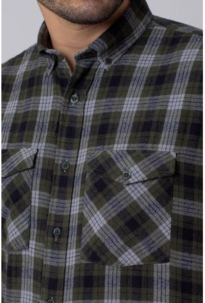 Camisa-Casual-Masculina-Tradicional-Flanela-Verde-08206-01