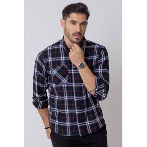 Camisa-Casual-Masculina-Tradicional-Flanela-Preto-08207-01