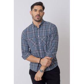 Camisa-Casual-Masculina-Tradicional-Flanela-Cinza-08207-01
