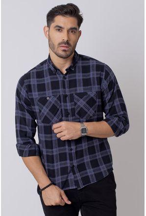 Camisa-Casual-Masculina-Tradicional-Flanela-Preto-08208-02