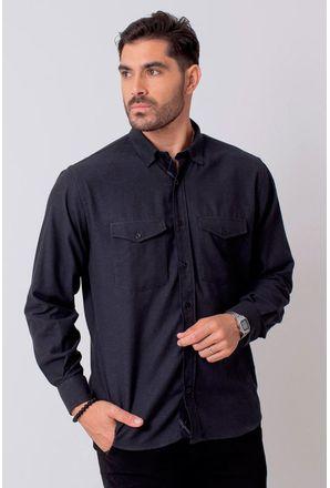 Camisa-Casual-Masculina-Tradicional-Flanela-Preto-08204-01