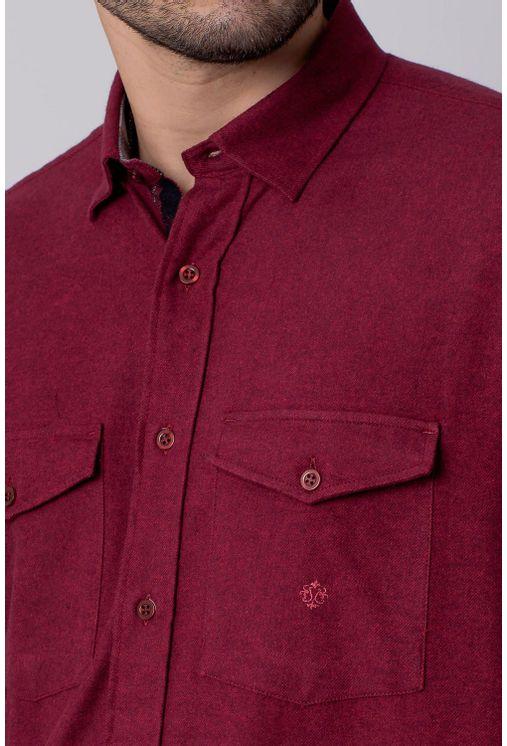 Camisa-Casual-Masculina-Tradicional-Flanela-Vermelho-08204-01
