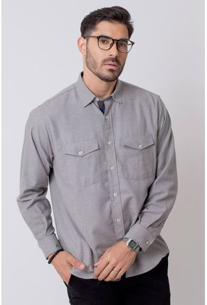 Camisa-Casual-Masculina-Tradicional-Flanela-Cinza-08204-04