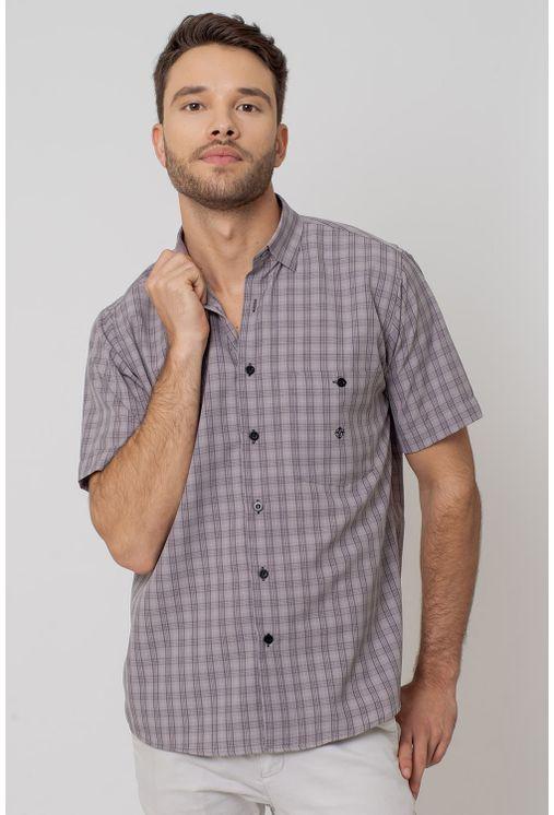 Camisa-Casual-Masculina-Tradicional-Microfibra-Grafite-07966-01