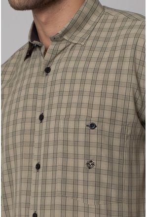 Camisa-Casual-Masculina-Tradicional-Microfibra-Bege-07966-03