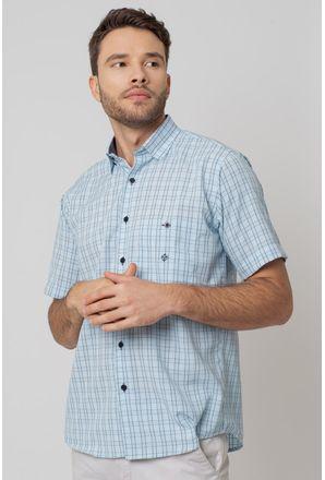 Camisa-Casual-Masculina-Tradicional-Microfibra-Azul-Claro-07966-01