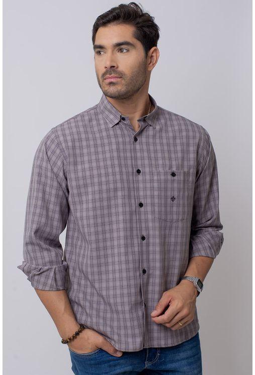 Camisa-Casual-Masculina-Tradicional-Microfibra-Grafite-07965-01
