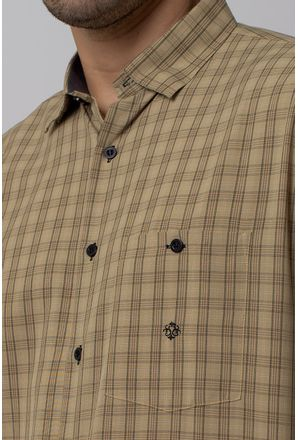 Camisa-Casual-Masculina-Tradicional-Microfibra-Bege-07965-01