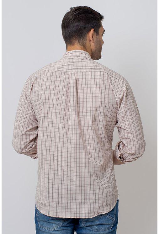Camisa-Casual-Masculina-Tradicional-Microfibra-Bege-07965-02