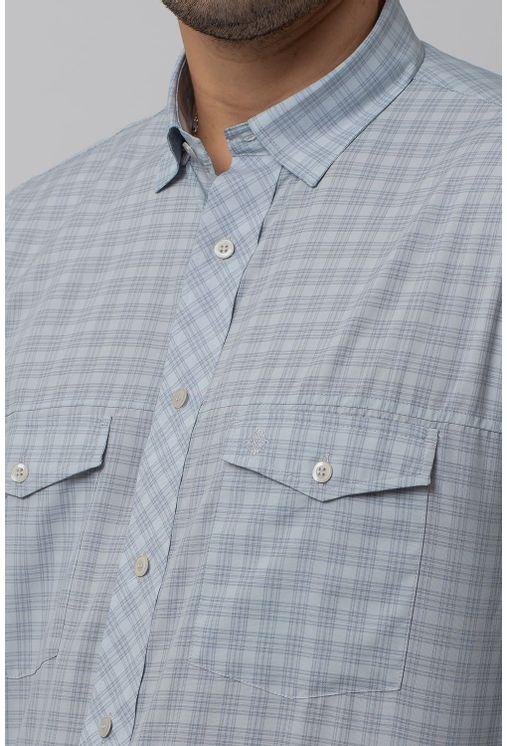 Camisa-Casual-Masculina-Tradicional-Microfibra-Cinza-08025-01