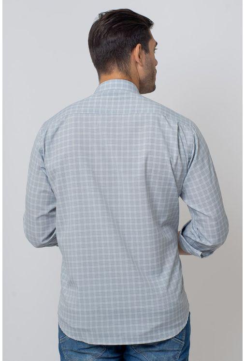 Camisa-Casual-Masculina-Tradicional-Microfibra-Cinza-08025-02